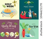 set for christianity holy week... | Shutterstock .eps vector #1046621170