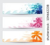 background,banner,beach,blue,color,colorful,concept,grunge,hawaii,hawaiian,illustration,miami,ocean,orange,paint