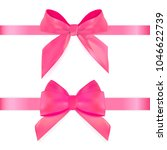 decorative pink bow with ribbon ... | Shutterstock .eps vector #1046622739