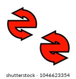 double curved circle arrow... | Shutterstock .eps vector #1046623354