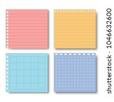 set of various paper note on... | Shutterstock .eps vector #1046632600