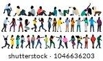 isometric people dance  set ... | Shutterstock .eps vector #1046636203