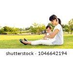 family lifestyle scene of... | Shutterstock . vector #1046642194