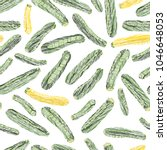 green and golden zucchini.... | Shutterstock .eps vector #1046648053