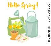 hello spring gardening banner.... | Shutterstock .eps vector #1046648320
