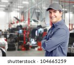 auto repair service. handsome... | Shutterstock . vector #104665259