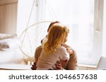 dad or father and his baby...   Shutterstock . vector #1046657638