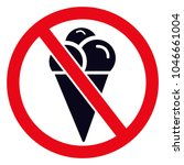 no ice symbol  no ice cream... | Shutterstock .eps vector #1046661004