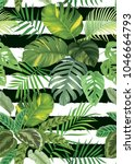 tropical seamless pattern with... | Shutterstock .eps vector #1046664793