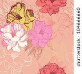 vector seamless floral  pattern ... | Shutterstock .eps vector #104666660