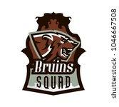 logo  emblem of an aggressive... | Shutterstock .eps vector #1046667508