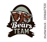 logo  emblem of an aggressive... | Shutterstock .eps vector #1046667520