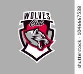 colorful emblem  logo  snarling ... | Shutterstock .eps vector #1046667538