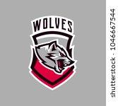 colorful emblem  logo  snarling ... | Shutterstock .eps vector #1046667544