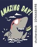 typography slogan with shark... | Shutterstock .eps vector #1046668498