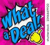 "pop art comics icons  ""what a... | Shutterstock .eps vector #1046669920"