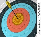 arrow hit the center of the... | Shutterstock .eps vector #1046670130