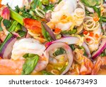 Shrimp Salad In Thai Style Dish.