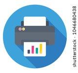 an output device printer... | Shutterstock .eps vector #1046680438