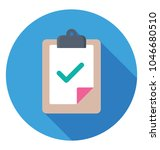 a document on clipboard with... | Shutterstock .eps vector #1046680510
