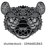 bear head logo  emblem | Shutterstock .eps vector #1046681863
