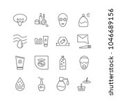 cosmetology icons set with... | Shutterstock .eps vector #1046689156