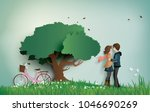 illustration of love and... | Shutterstock .eps vector #1046690269