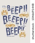 typography slogan with cute car ... | Shutterstock .eps vector #1046691448
