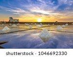 salt pans in jingzaijiao ... | Shutterstock . vector #1046692330