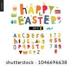 kids flat alphabet set   happy... | Shutterstock .eps vector #1046696638
