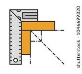 set square color icon. angle...   Shutterstock .eps vector #1046699320