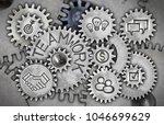 macro photo of tooth wheels... | Shutterstock . vector #1046699629