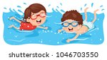 vector illustration of kid... | Shutterstock .eps vector #1046703550