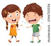 vector illustration of kid... | Shutterstock .eps vector #1046703556