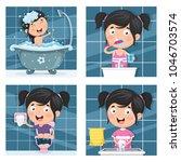 vector illustration of kid... | Shutterstock .eps vector #1046703574