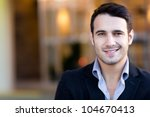 portrait of a handsome casual... | Shutterstock . vector #104670413