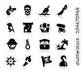 pirates icons set | Shutterstock .eps vector #104670968