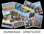 tokyo postcard collage   japan... | Shutterstock . vector #1046711323