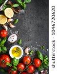 ingredients for cooking. | Shutterstock . vector #1046720620