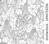 seamless floral doodle... | Shutterstock .eps vector #1046723236