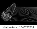half rolled yoga pilates mat... | Shutterstock .eps vector #1046727814