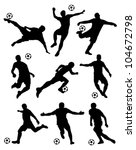 figures nine players on a white ... | Shutterstock .eps vector #104672798
