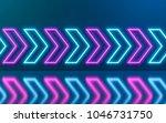 abstract neon arrow move... | Shutterstock . vector #1046731750