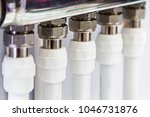 plastic pipes and fittings for... | Shutterstock . vector #1046731876