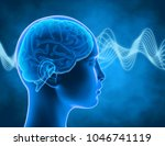 brain waves  thinking and... | Shutterstock . vector #1046741119