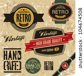 retro labels set. vintage... | Shutterstock .eps vector #104674508