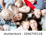 the children with moms | Shutterstock . vector #1046745118