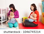 mothers are breastfeeding the...   Shutterstock . vector #1046745214