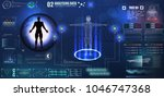 abstract technology ui... | Shutterstock .eps vector #1046747368