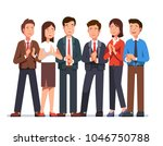Group Of Cheerful Business Man...